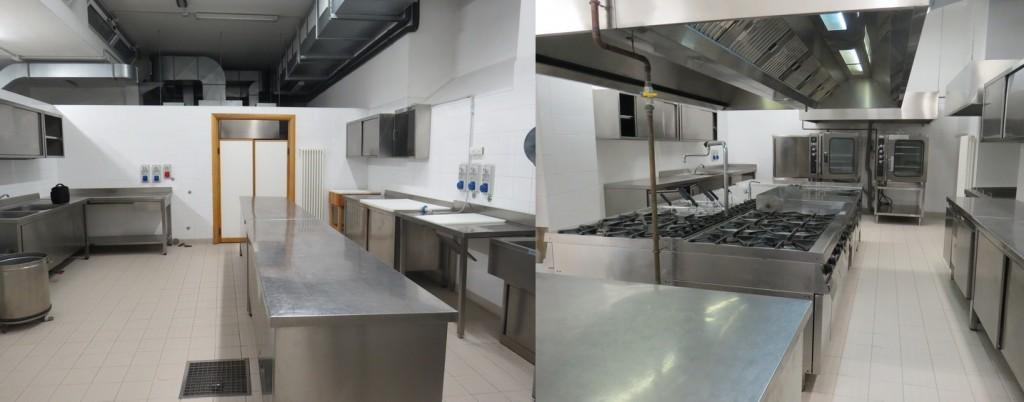 Una cucina di 200 mq altamente professionale