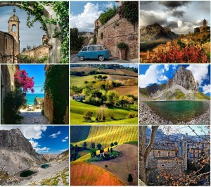 The Marche region's medieval hilltop towns and wonderful mountains