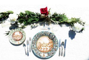 wedding italian ceramic style by Augusta Schinchirimini