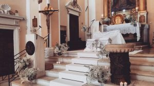 Religious ritual in Church S.Felice and Audacto for wedding in Casa Alexis