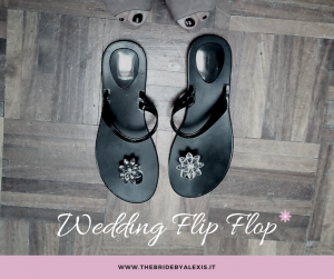 Wedding flip flop made in Italy for bridesmaids