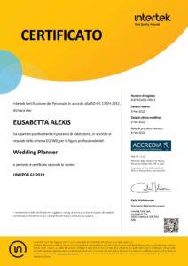 Elisabetta Alexis wedding planner certificata
